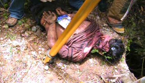 Oběť drogového násilí v Mexiku