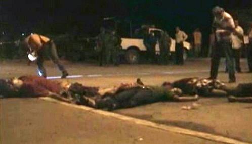 Oběti masakru v Mexiku