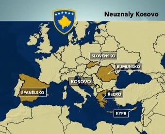 Státy, které neuznaly samostatné Kosovo