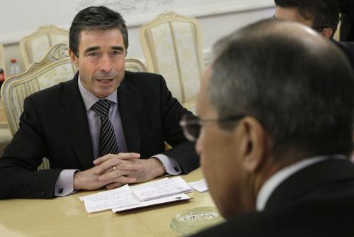 Anders Fogh Rasmussen a Sergej Lavrov