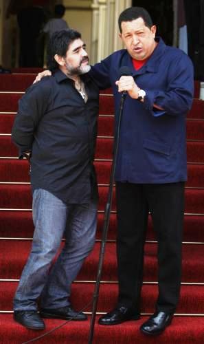 Diego Maradona a Hugo Chávez