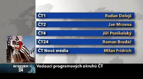 Vedoucí programových okruhů ČT