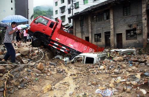 Následky záplav v Číně