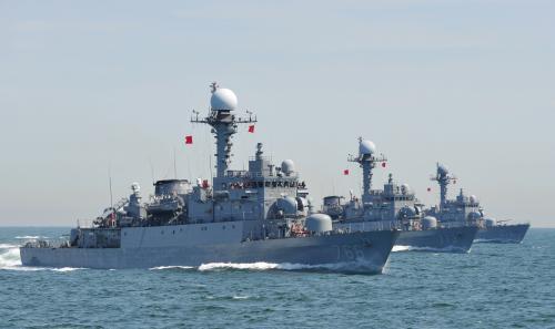 Cvičení jihokorejského námořnictva