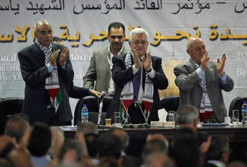 Vedení Fatahu na sjezdu
