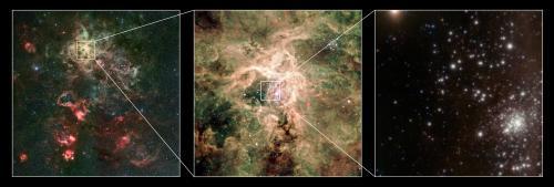 Snímky hvězdy R136a1