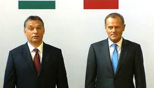 Viktor Orbán a Donald Tusk