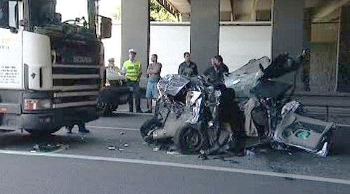 Střet auta s kamionem