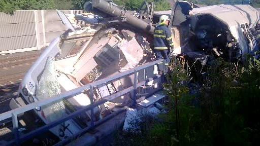 Nehoda vlaku v Ústí nad Labem