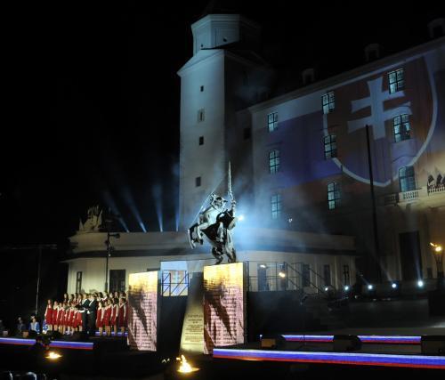 Socha knížete Svatopluka v Bratislavě