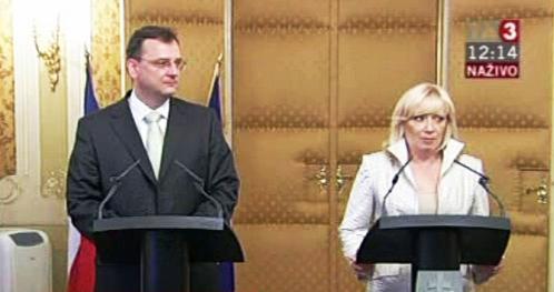 Petr Nečas a Iveta Radičová