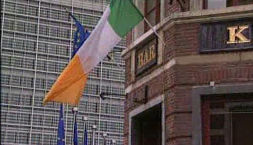 Irská a evropská vlajka