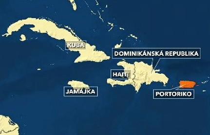 Mapa Karibiku