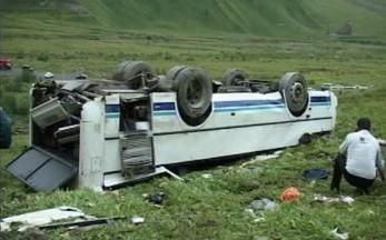 Havarovaný osetinský autobus