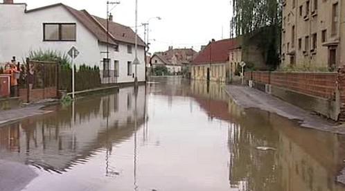 Záplavy v Hrochově Týnci