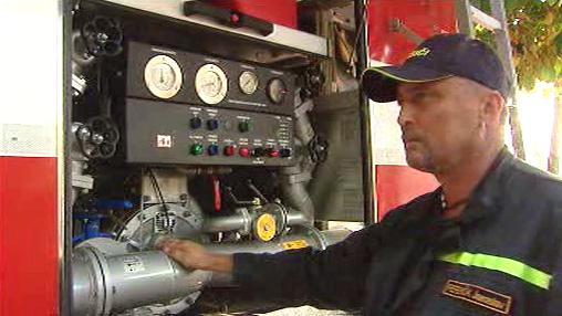 Ukázka hasičské techniky