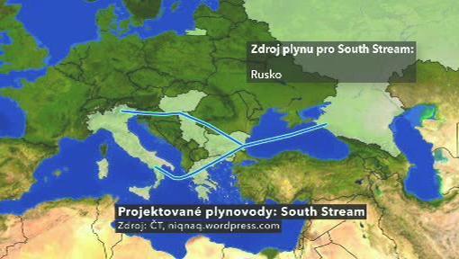 Projektovaný plynovod South Stream