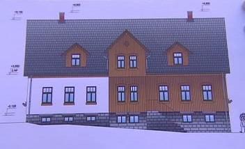 Plán budoucí chaty na Jizerce