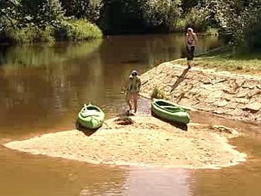 Hladina řek klesá