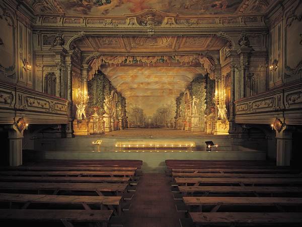 Jeviště barokního divadla v Českém Krumlově