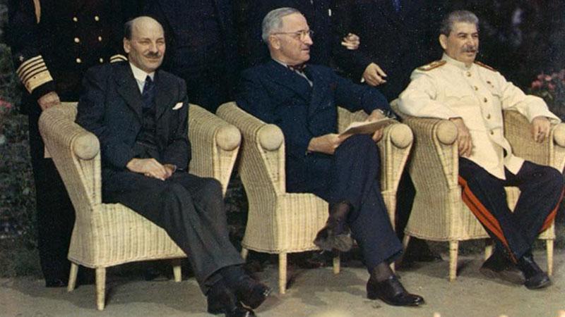 Zástupcí velmocí na Postupimské konferenci