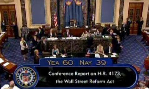 Regulace Wall Streetu v Senátu