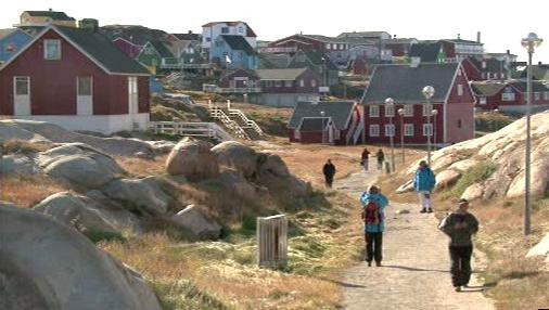 Osídlená část Grónska