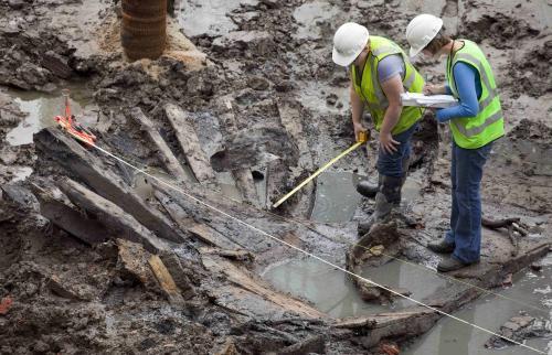Loď objevená pod troskami Světového obchodního centra