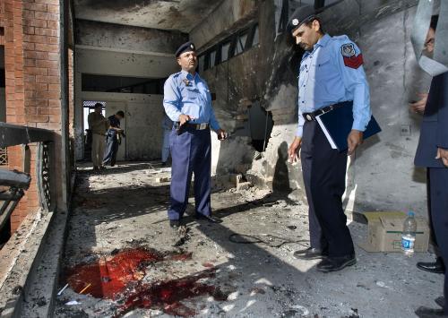 Pákistánská policie vyšetřuje místo útoku