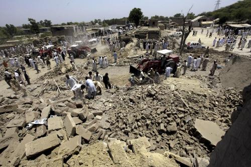 Místo exploze v Pákistánu