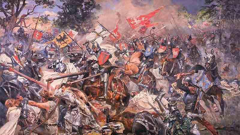 Obraz bitvy u Grunwaldu