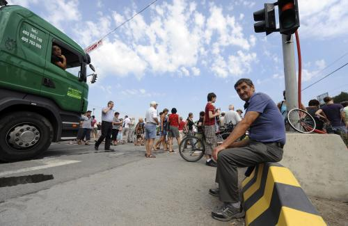 Blokáda přechodu pro chodce