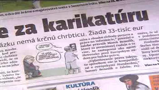 Slovenský tisk o soudním sporu