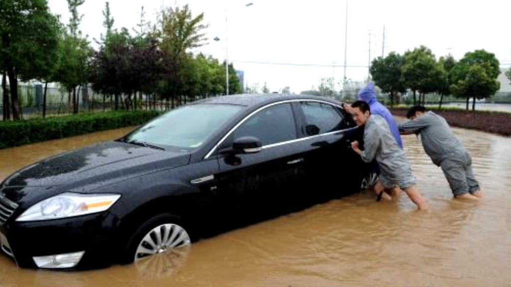 Přívalové deště v Číně