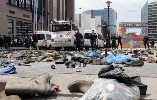 Brusel po protestech zemědělců