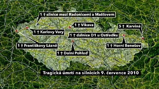 Úmrtí na silnicích z 9. července