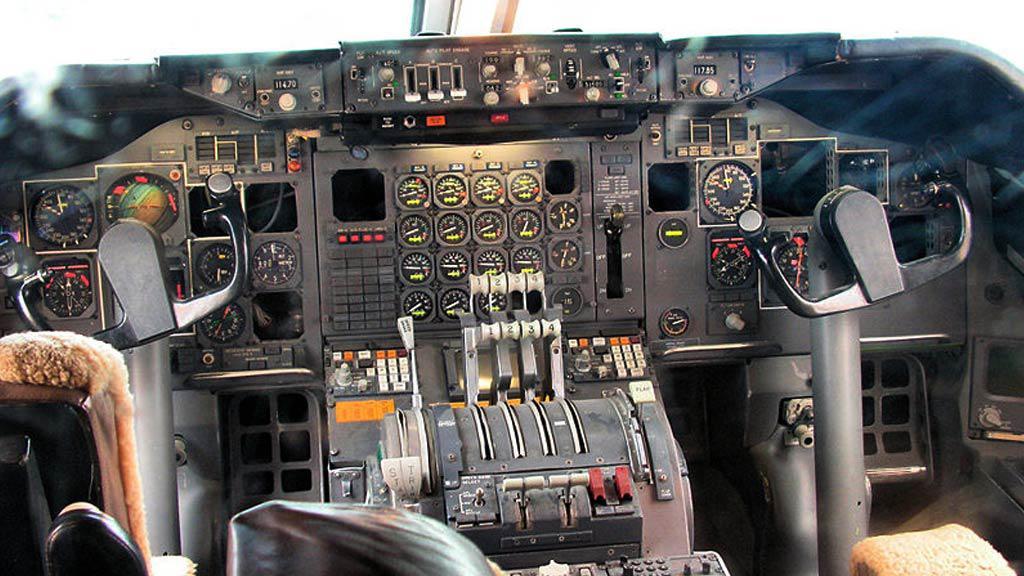 Pohled do letadla Boeing 747