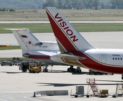 Ruské a americké letadlo
