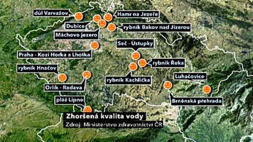 Zhoršená kvalita vody na území ČR