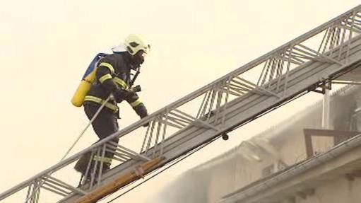 Zásah hasičů v Jaroměři