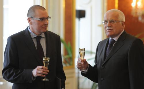 Miroslav Singer a Václav Klaus