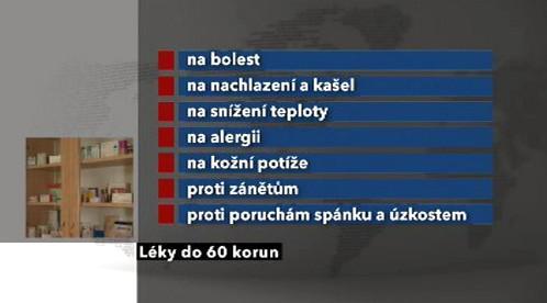 Léky do 60 korun