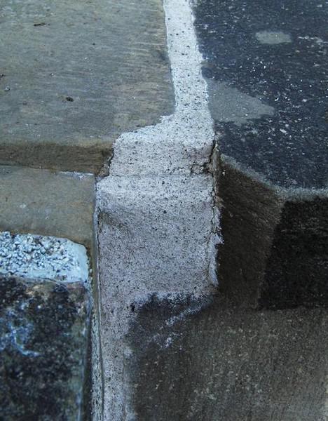 Ukázka z oprav Karlova mostu