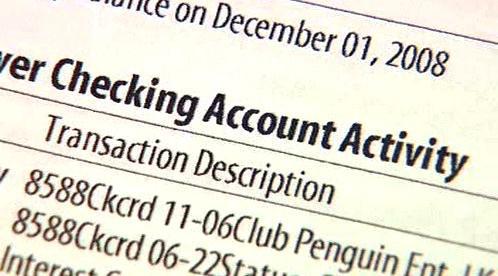 Bankovní data