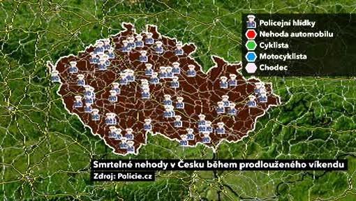 Mapa policejních hlídek