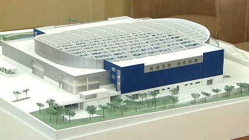 Plánovaná multifunkční aréna v Kladně