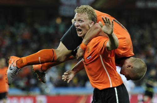 Radost hráčů Nizozemska