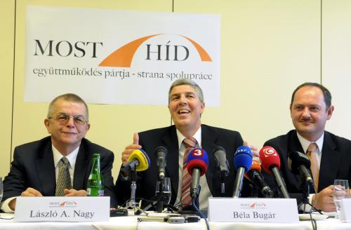Vedení nové slovenské strany Most-Híd