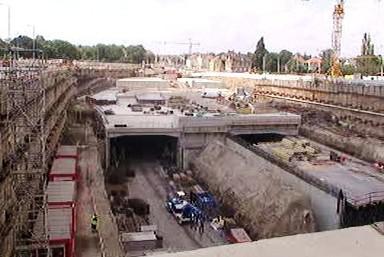 Stavba tunelu Blanka ruší v noci obyvatele Letné