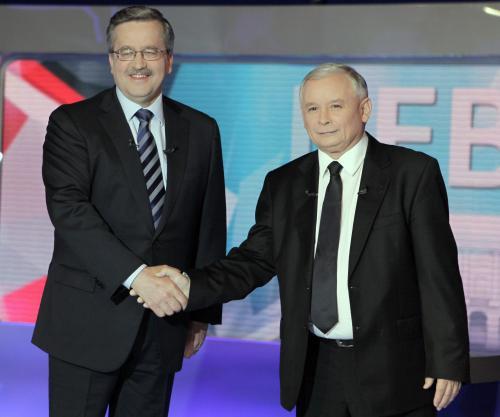 Soupeři v boji o post polského prezidenta - Komorowski a Kaczyński